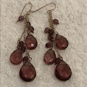 BC BG purple Dangling earrings